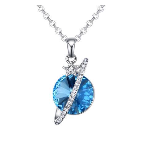 Planet  - Swarovski kristályos nyaklánc - kék