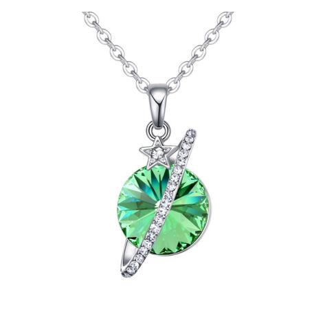 Planet  - Swarovski kristályos nyaklánc - zöld
