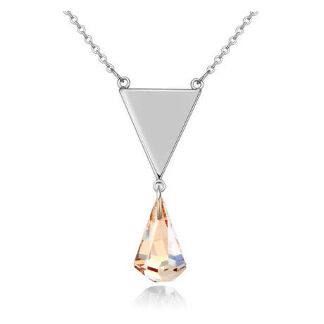 Darling Memorial - Swarovski kristályos nyaklánc - borostyán
