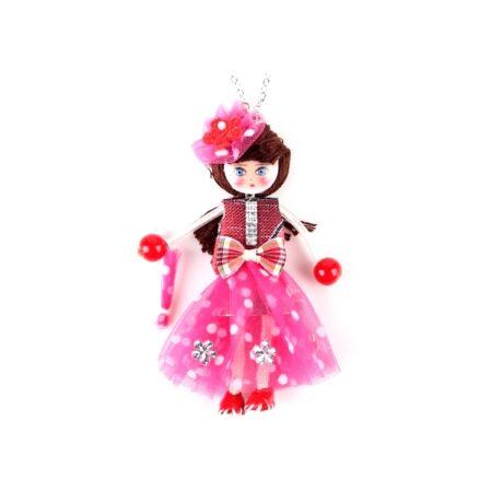 Francia stílusban - nyaklánc - rózsaszín - BABA kollekció