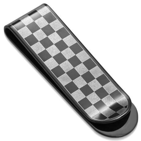 Sakk - nemesacél pénzcsipesz - fekete