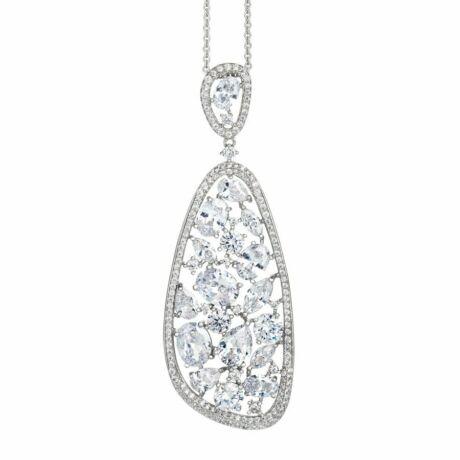 Boccadamo Jewels -  ezüst nyaklánc-Lidian - fehér