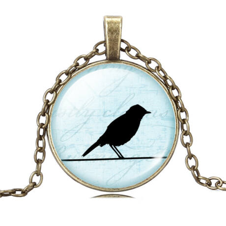 Birdy nyaklánc - bronz - 4.
