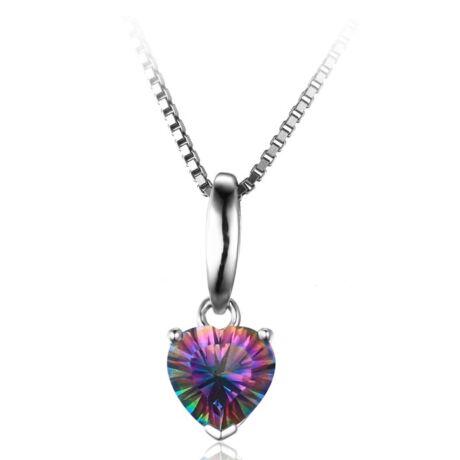 Mystic topáz medál - szív alakú 2.- ezüst