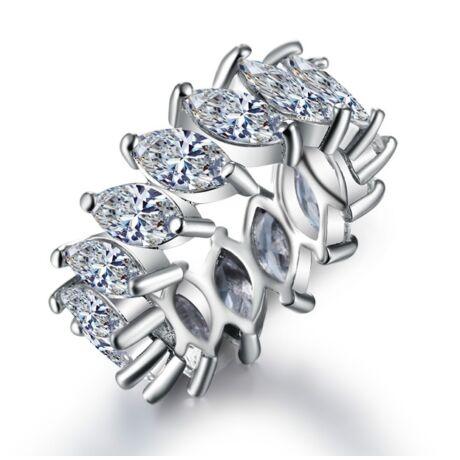 Sveva - cirkóniaköves divatgyűrű - fehér