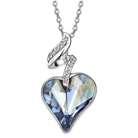 Linda - Swarovski kristályos nyaklánc - kék