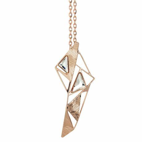 Boccadamo Jewels - bronz nyaklánc-SPICCHI DI LUCE -rózsaarany - fehér
