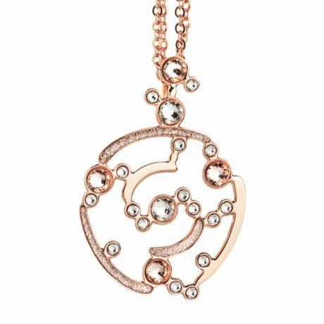 Boccadamo Jewels - bronz nyaklánc-Bloom -rózsaarany - fehér