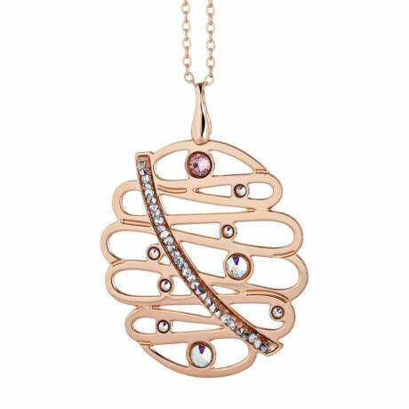 Boccadamo Jewels - bronz nyaklánc-Melodia-rózsaarany - XGR234RS