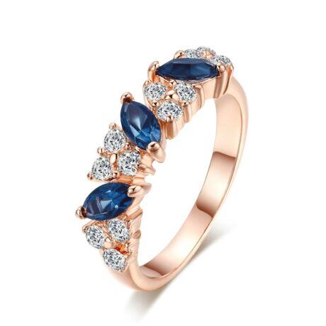 Juliana - cirkóniaköves divatgyűrű - kék