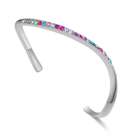 Arcing- Swarovski kristályos karkötő - ezüst, színes