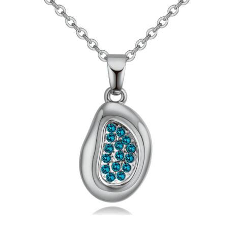 Odú - világoskék-ezüst kristályos nyaklánc