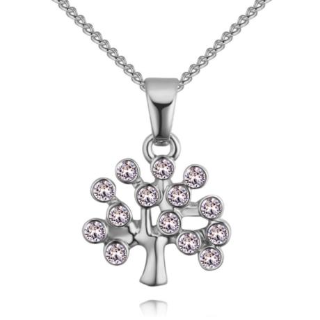 Életfa- fehér-ezüst kristályos nyaklánc