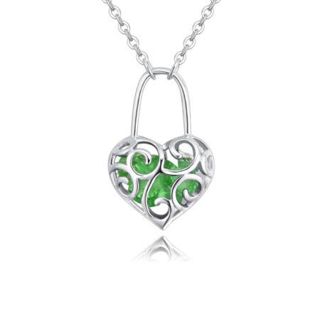 Szerelemlakat - Swarovski kristályos nyaklánc - zöld