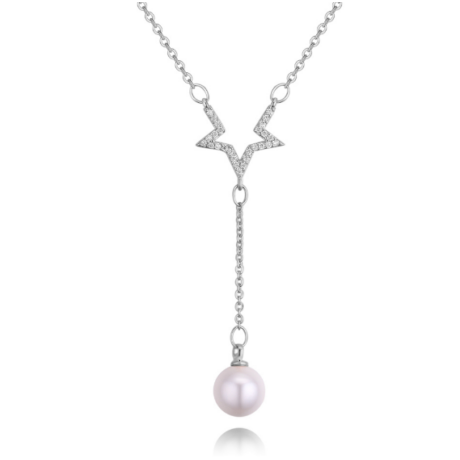 Csillagpor- ezüst - kristályos nyaklánc