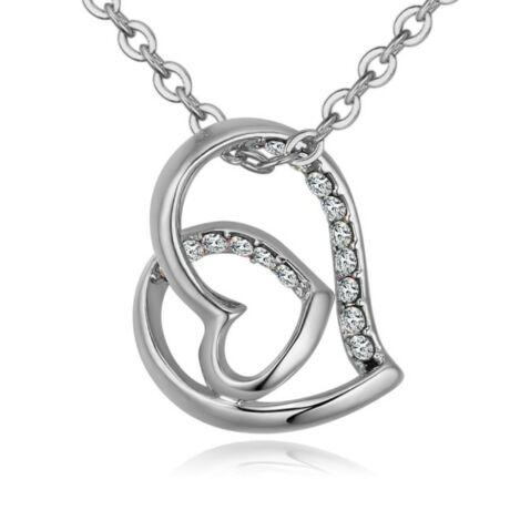 Hédi- Swarovski kristályos nyaklánc - fehér