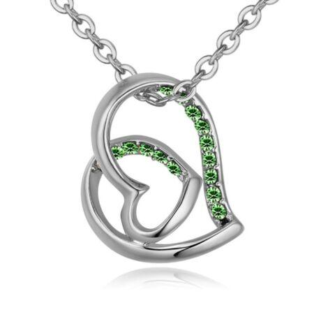 Hédi- Swarovski kristályos nyaklánc - zöld