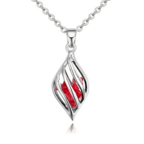Cartallum - piros - Swarovski kristályos nyaklánc