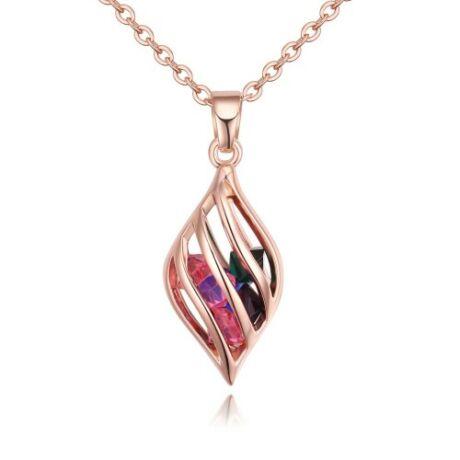 Cartallum - arany- Swarovski kristályos nyaklánc - színes