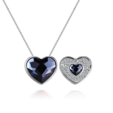 Violeta - kék- Swarovski kristályos nyaklánc
