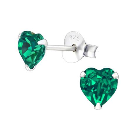 Amala - Swarovski kristályos fülbevaló - Emerald - zöld