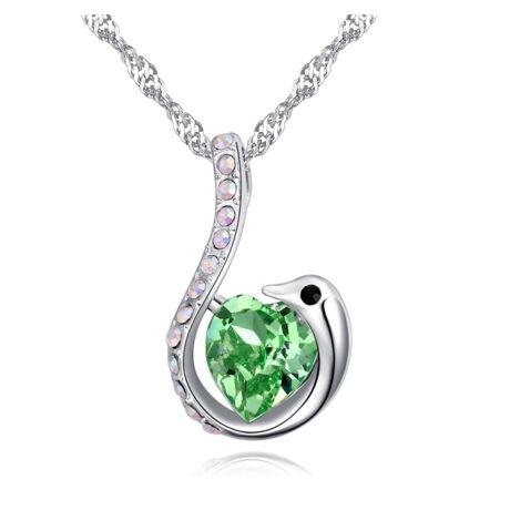 Cor Olor - zöld - Swarovski kristályos nyaklánc