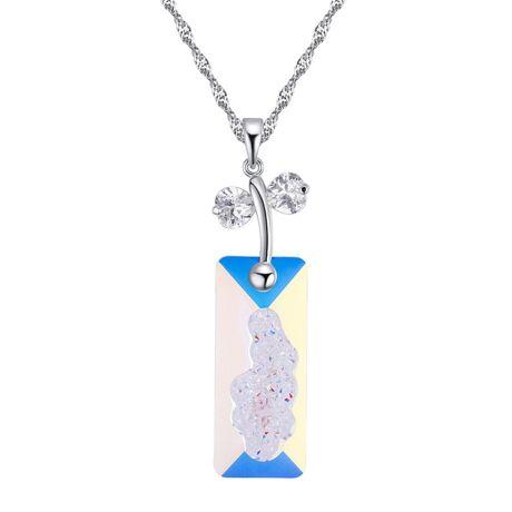 Kami - Swarovski kristályos nyaklánc - színjátszós fehér