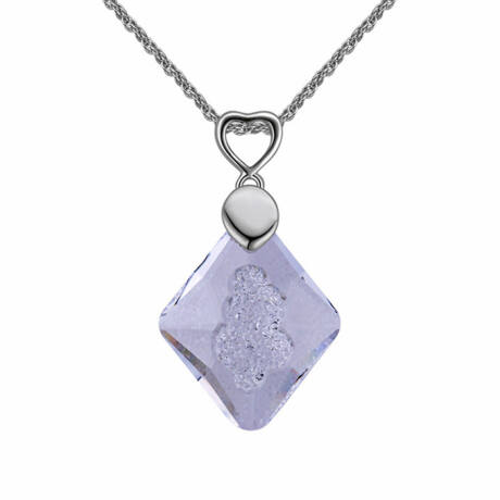 Sugi - Swarovski kristályos nyaklánc - csillámos fehér