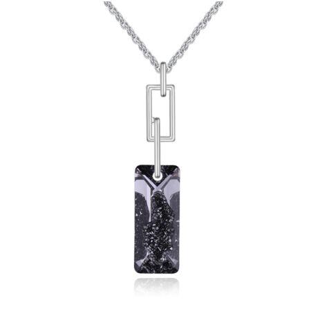 """""""Több leszek...""""- Swarovski kristályos nyaklánc - csillámos fekete"""