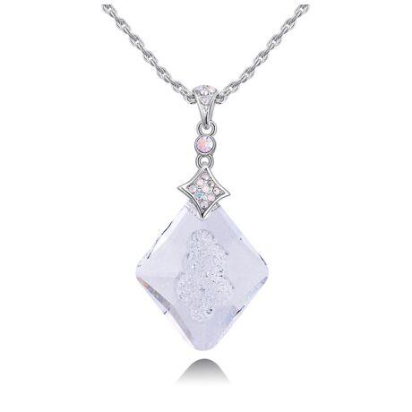 Alonza - Swarovski kristályos nyaklánc - fehér