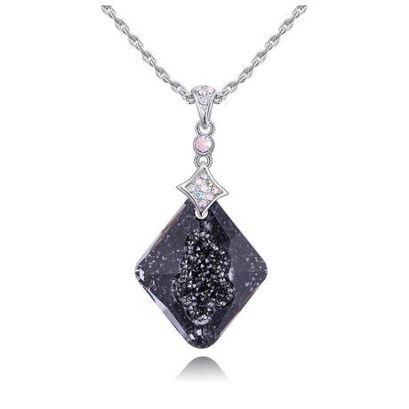 Alonza - Swarovski kristályos nyaklánc - csillámos fekete