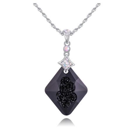 Alonza - Swarovski kristályos nyaklánc - fekete