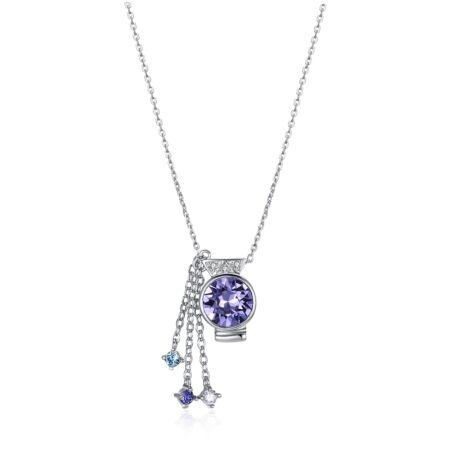Horoszkóp - Swarovski kristályos nyaklánc- vízöntő