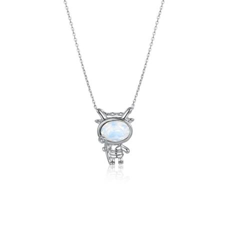 Horoszkóp - Swarovski kristályos nyaklánc- BAK - világoskék
