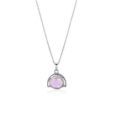 Horoszkóp - Swarovski kristályos nyaklánc- SZŰZ - rózsaszín