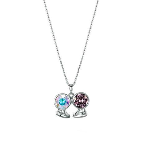 Horoszkóp - Swarovski kristályos nyaklánc- Ikrek