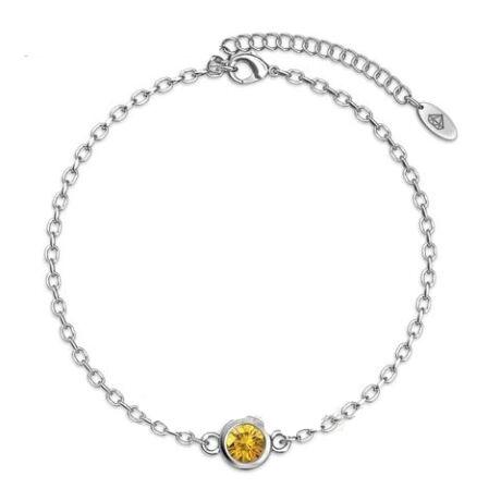 November-Birty Stone-Swarovski kristályos karkötő - Citrine - sárga