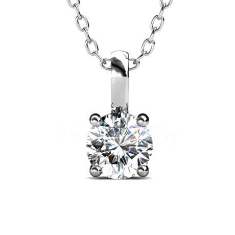 Leoti - Swarovski kristályos  nyaklánc - fehér