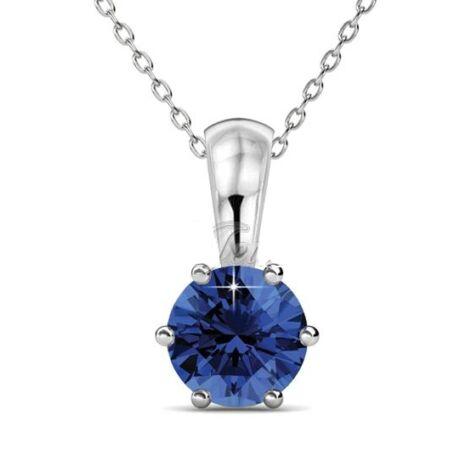 Szeptember Birth Stone- Swarovski kristályos nyaklánc - Sapphire - kék
