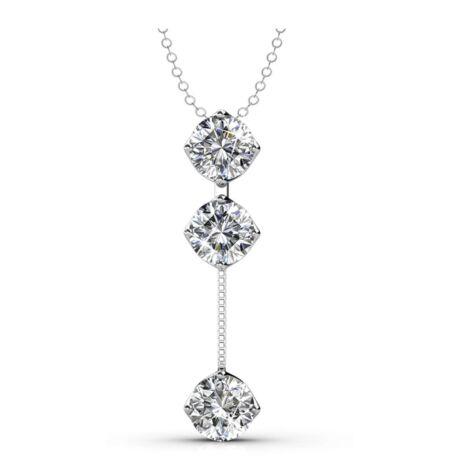 Függő kristályok - Swarovski kristályos  nyaklánc