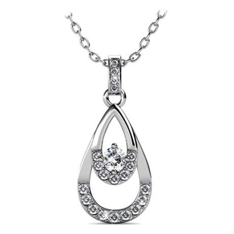 Marion - Swarovski kristályos  nyaklánc - fehér
