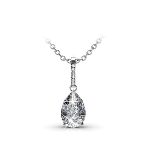 Caterina - Swarovski kristályos nyaklánc díszdobozban - fehér