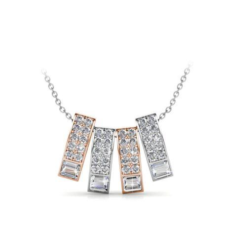 Eleanora - Swarovski kristályos  nyaklánc díszdobozban - fehér