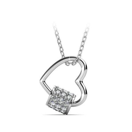 Macaron - Swarovski kristályos szív alakú nyaklánc díszdobozban