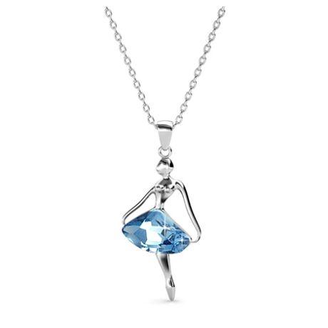 Balerina - Swarovski kristályos  nyaklánc - kék