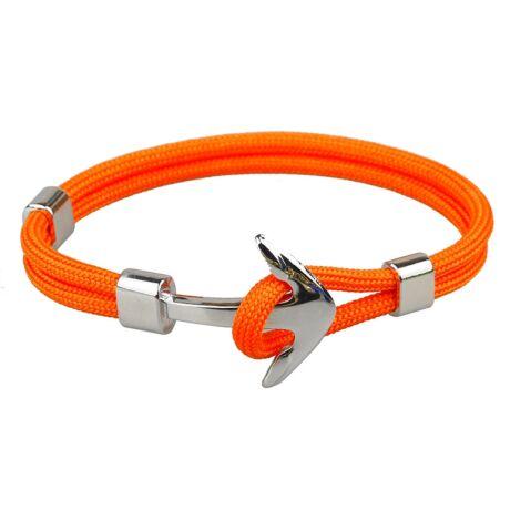 Anchorissime - Anchor horgony karkötő - ezüst- narancsszín kötéllel