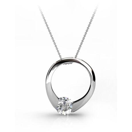 Ring- Swarovski kristályos  nyaklánc díszdobozban - fehér