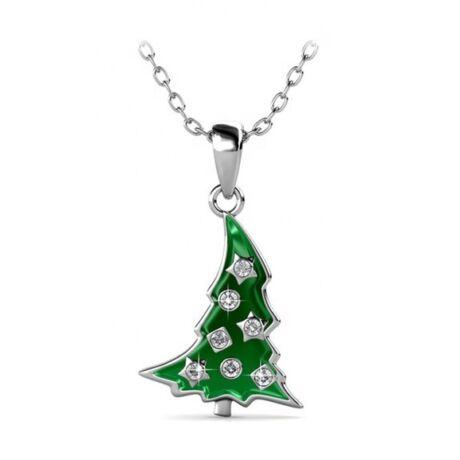 Karácsonyfa  Swarovski kristályos nyaklánc - fehér