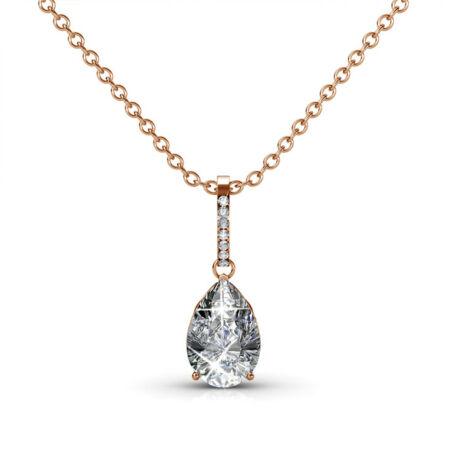 Fortuna - Swarovski kristályos nyaklánc díszdobozban - fehér