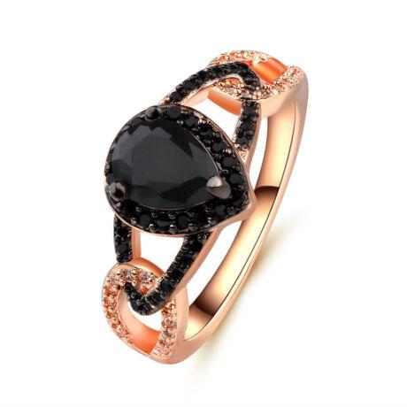 Elisa -  cirkóniaköves divatgyűrű - fekete